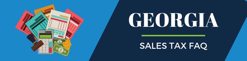 Georgia Sales Tax FAQ